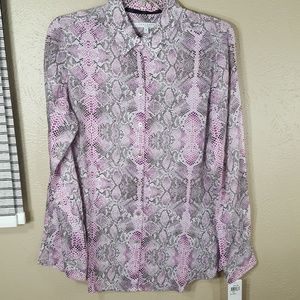 FOXCROFT shaped animal button down